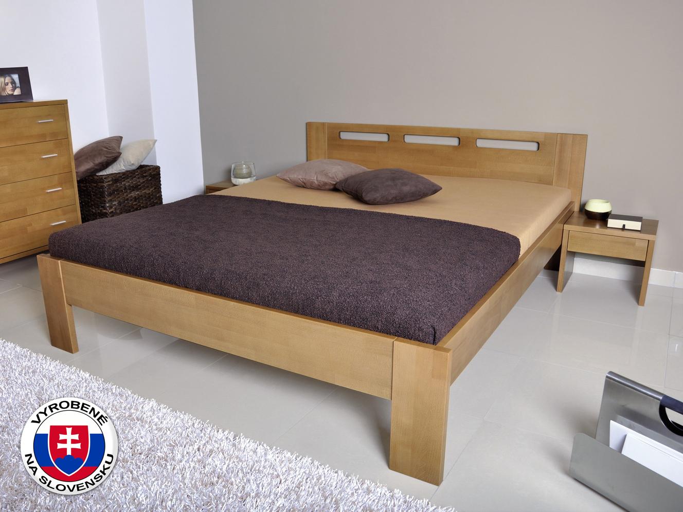 Manželská posteľ 160 cm - Styler - Nela (masív)